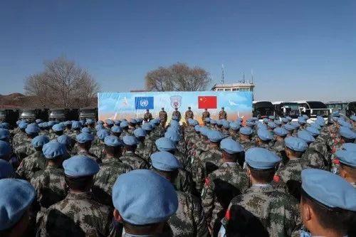 中国蓝盔,等你归来 | 中国第六批维和步兵营官兵出征